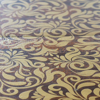 Chocolate Lily detail - Fes - exclusive parquet made in Italy