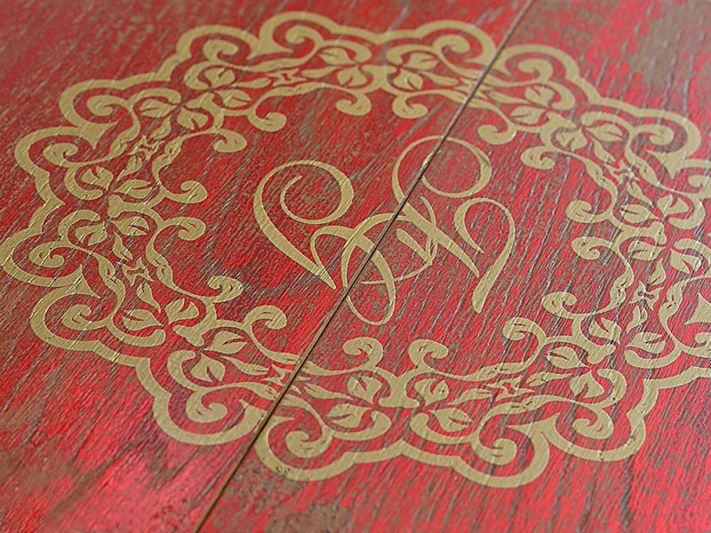 Baroque Cardinal detail - Fes - exclusive parquet made in Italy